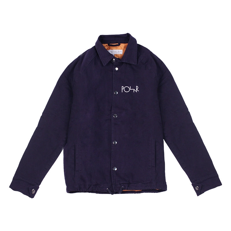 Polar Skate Co Quilted Coach Jacket in Navy