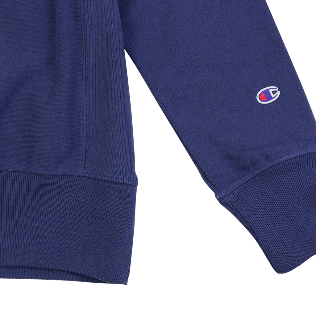 Champion Reverse Weave Crew Neck Sweatshirt in ISB Blue - Cuff