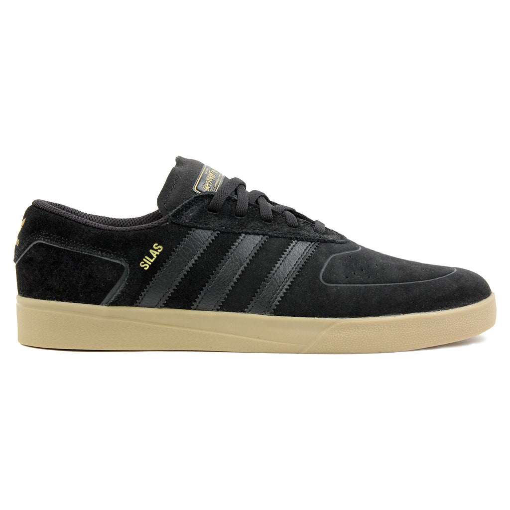 Adidas Skateboarding Silas Vulc ADV Shoes in Core Black/Core Black/Gold MT