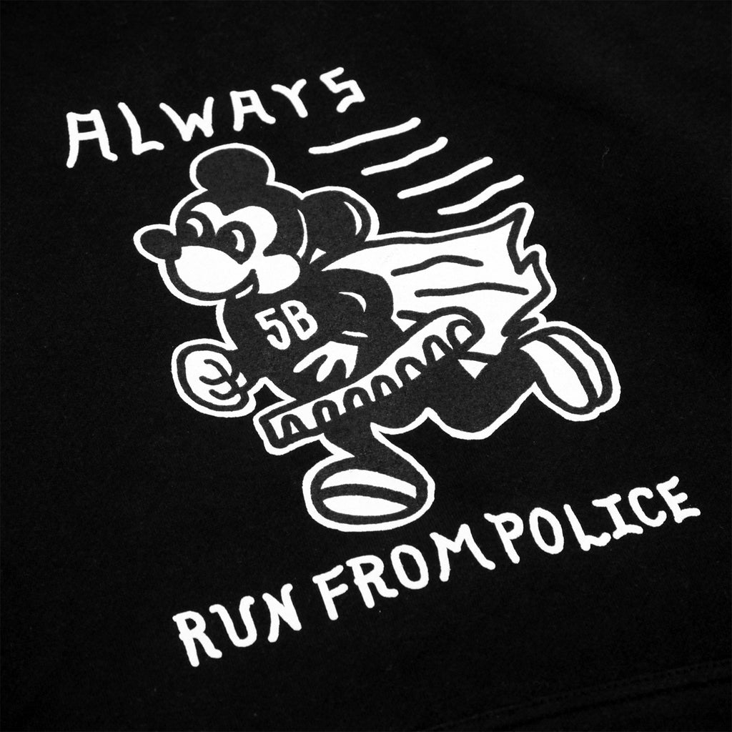 5Boro Always Run Hoodie in Black - Print