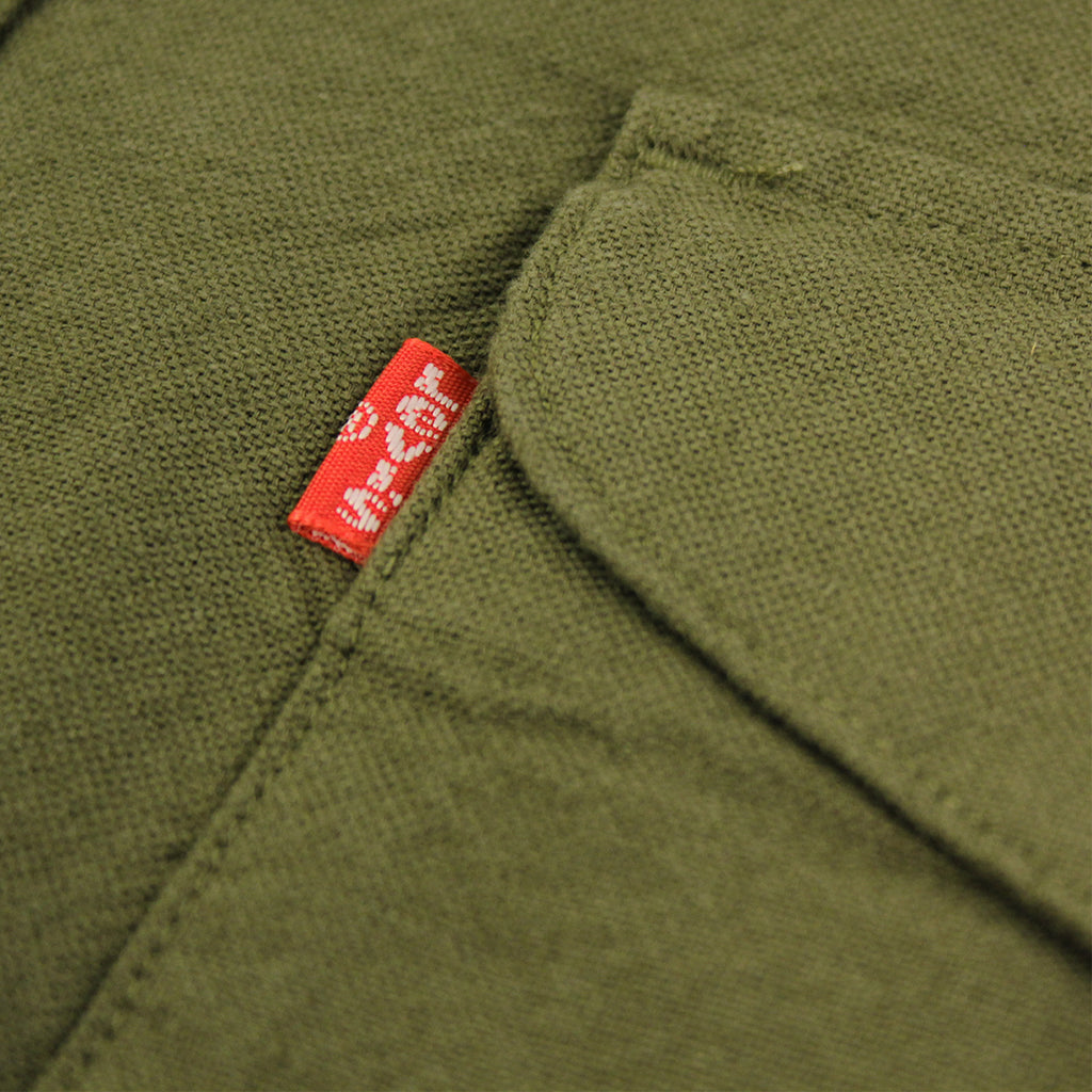 Levi's Skateboarding Collection Reform Shirt in Ivy Green - Label