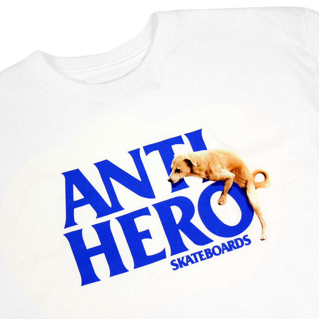Anti Hero Skateboards Dog Hump Hero T Shirt in White - Detail