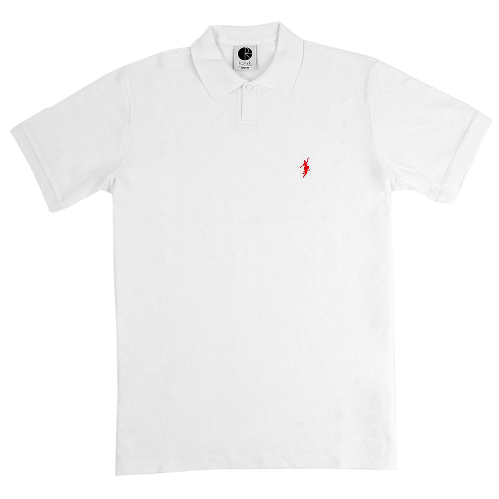 Polar Skate Co No Comply Pike T Shirt in White / Red