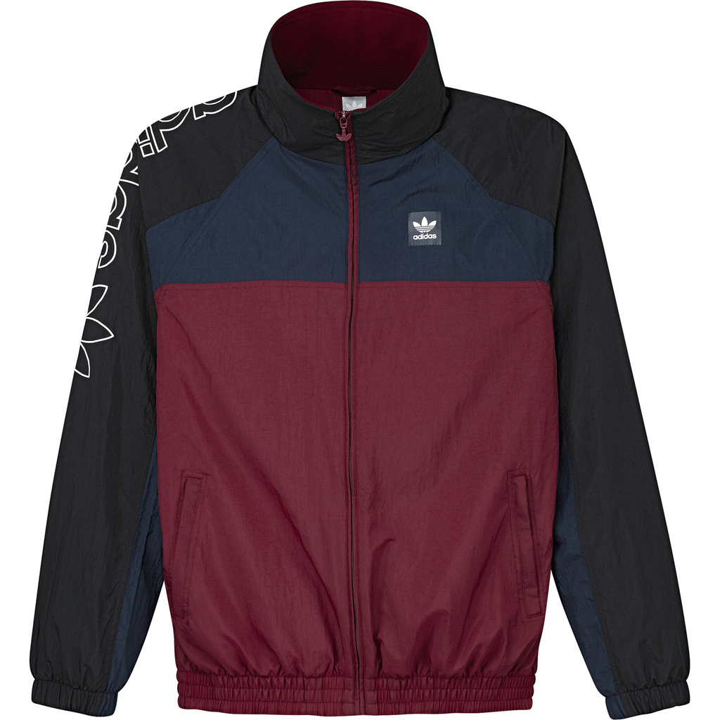 Adidas Protect Ya Neck Jacket in Black / Collegiate Navy / Collegiate Burgundy