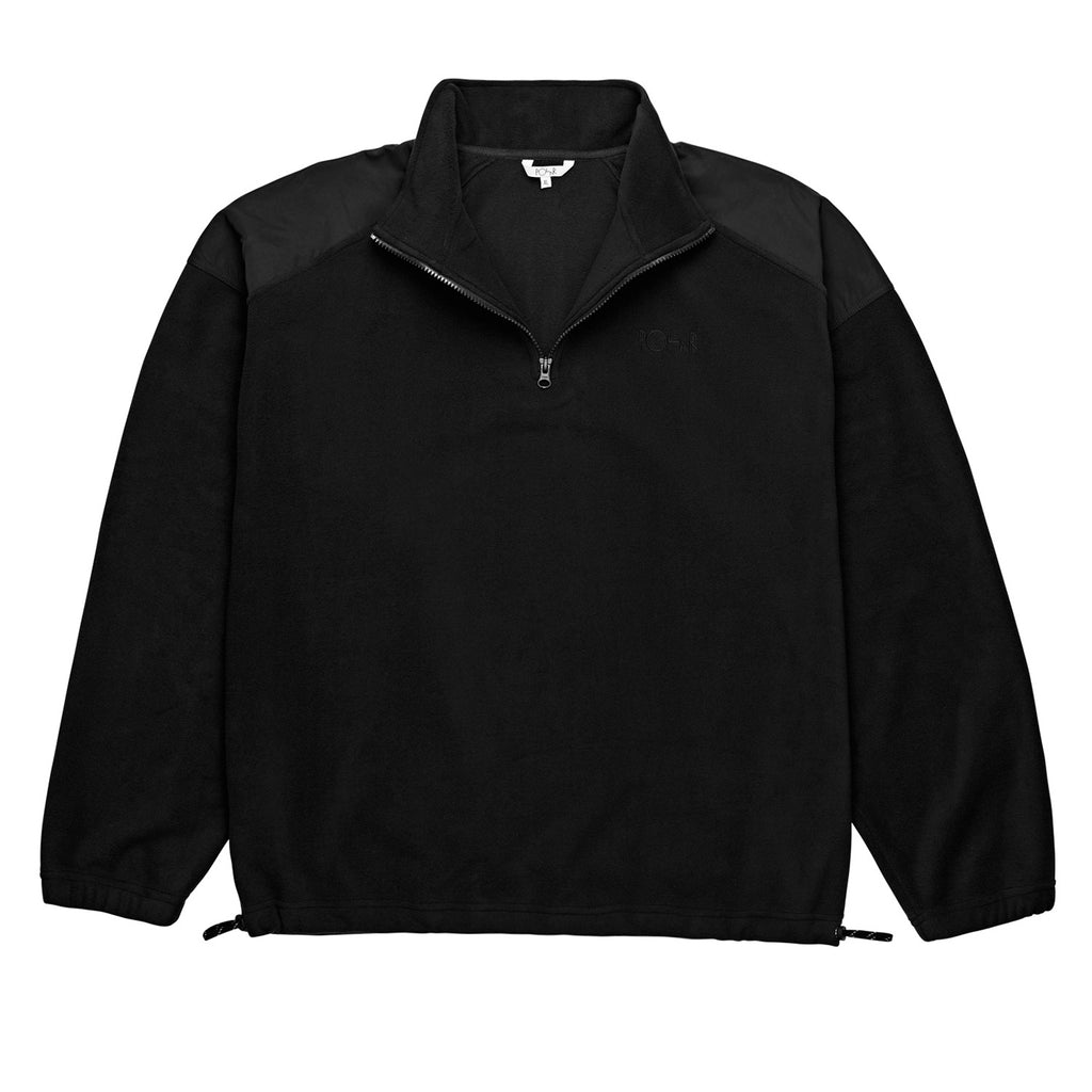 Polar Skate Co Light Fleece Pullover in Black - Detail