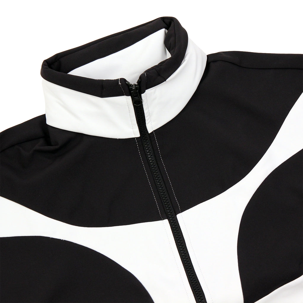 Palace x Adidas Heavy Half Zip Jacket in White / Black - Detail