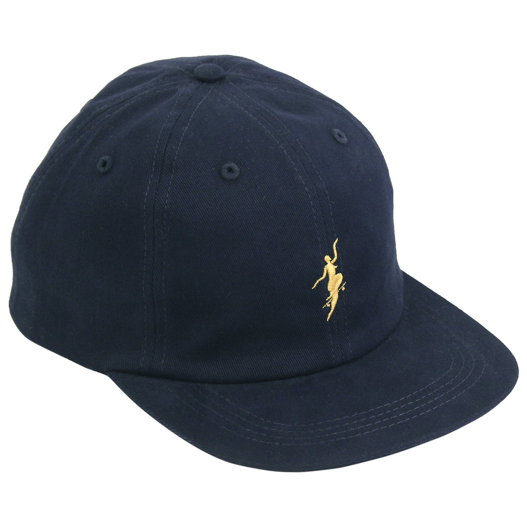 Polar Skate Co No Comply Cap in Navy / Yellow