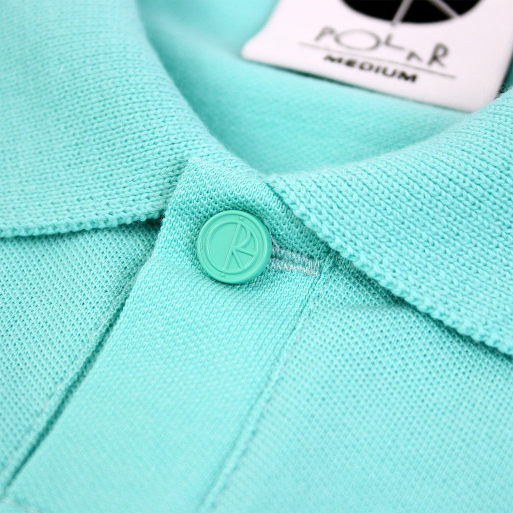 Polar Skate Co No Comply Pike T Shirt in Pastel Green / Navy - Button