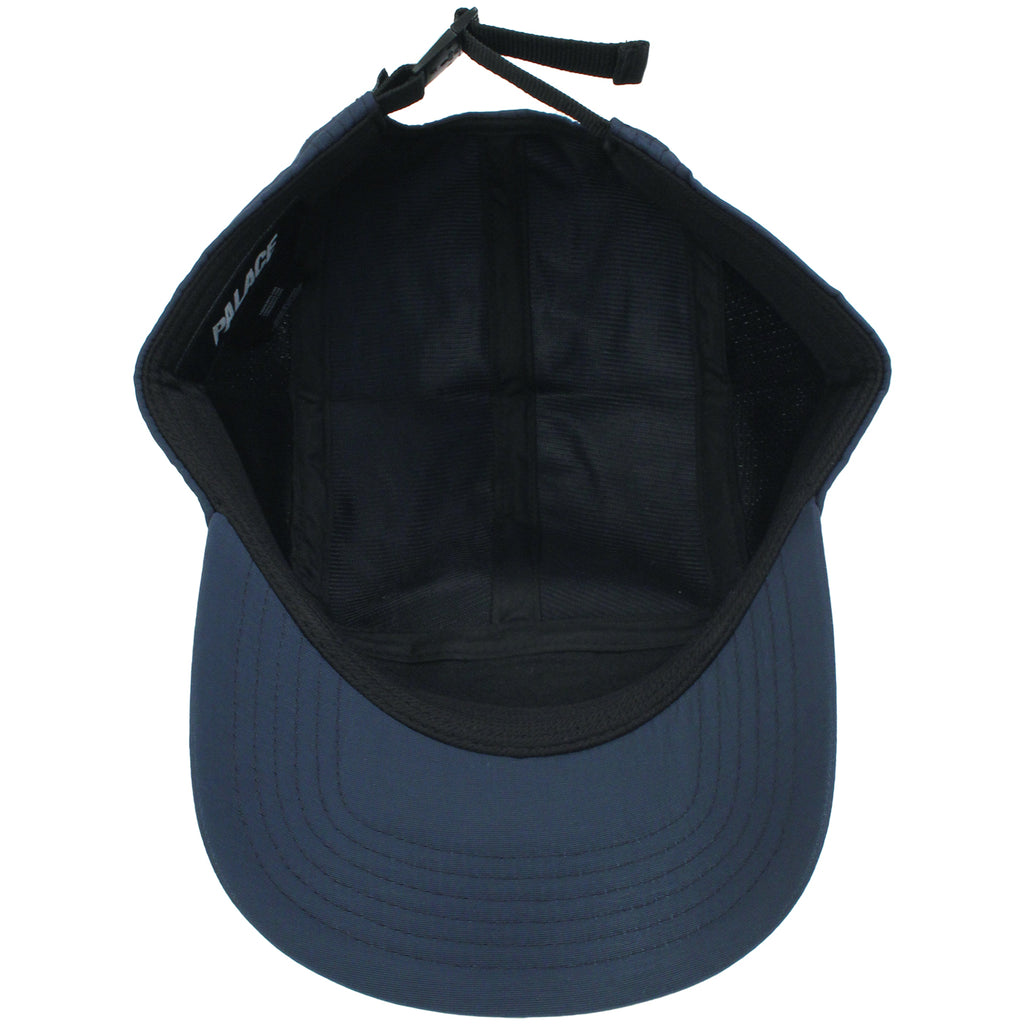 Palace 7 Panel Sport Cap in Blue Nights - Inside
