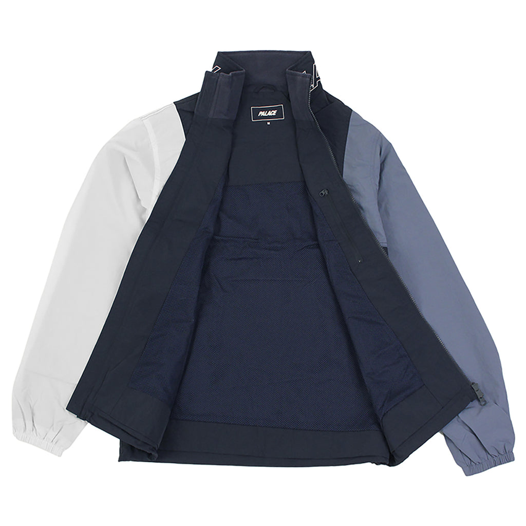 Palace Arms Jacket in Blue Nights / Flintstone / White - Open
