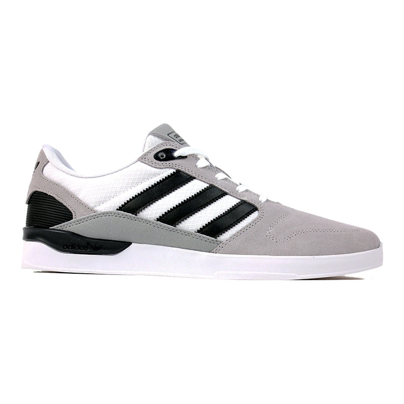 Adidas Skateboarding ZX Vulc Shoes in FTW White/Core Black/Grey