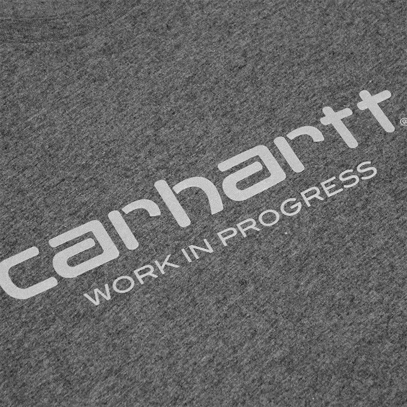 Carhartt WIP Script T Shirt in Dark Grey Heather / Reflective Grey - Print
