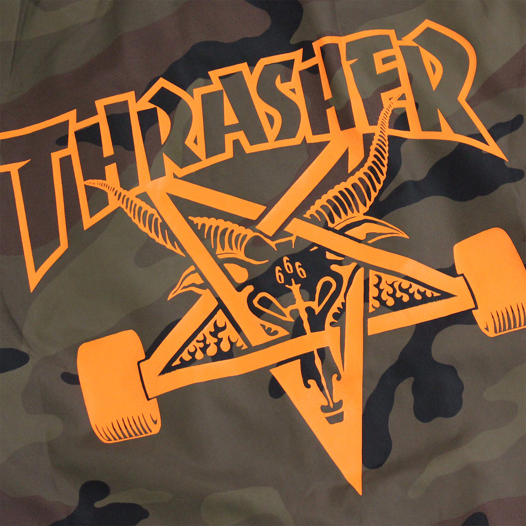 Thrasher Skategoat Coaches Jacket in Camo - Back Print