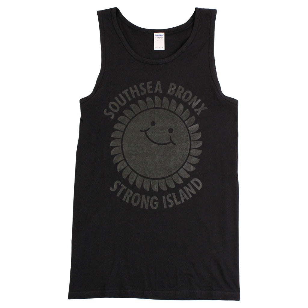 Southsea Bronx Strong Island Tank in Black on Black by Bored of Southsea