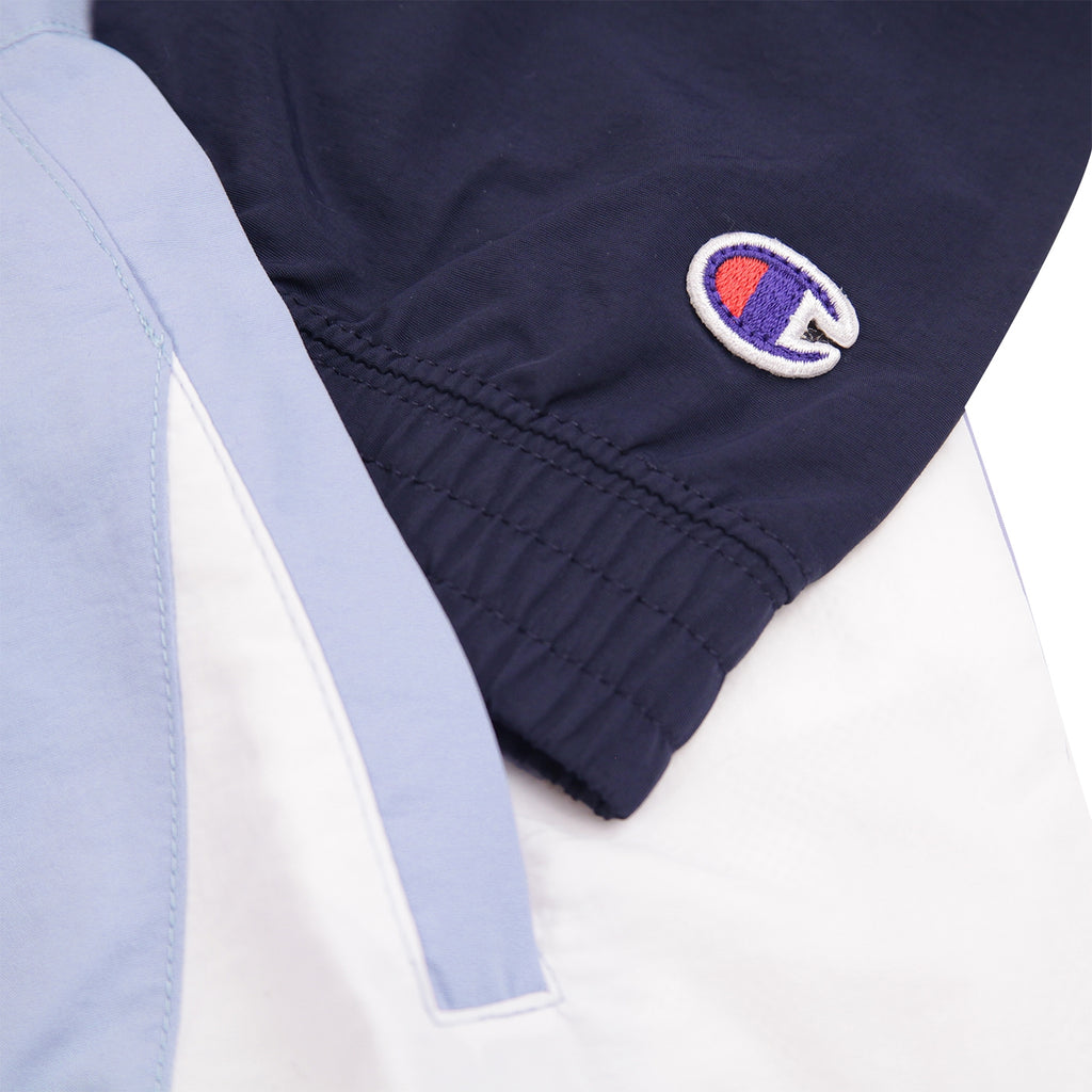 Champion Reverse Weave Colour Block Track Top in Lilac / Navy / White - C Logo