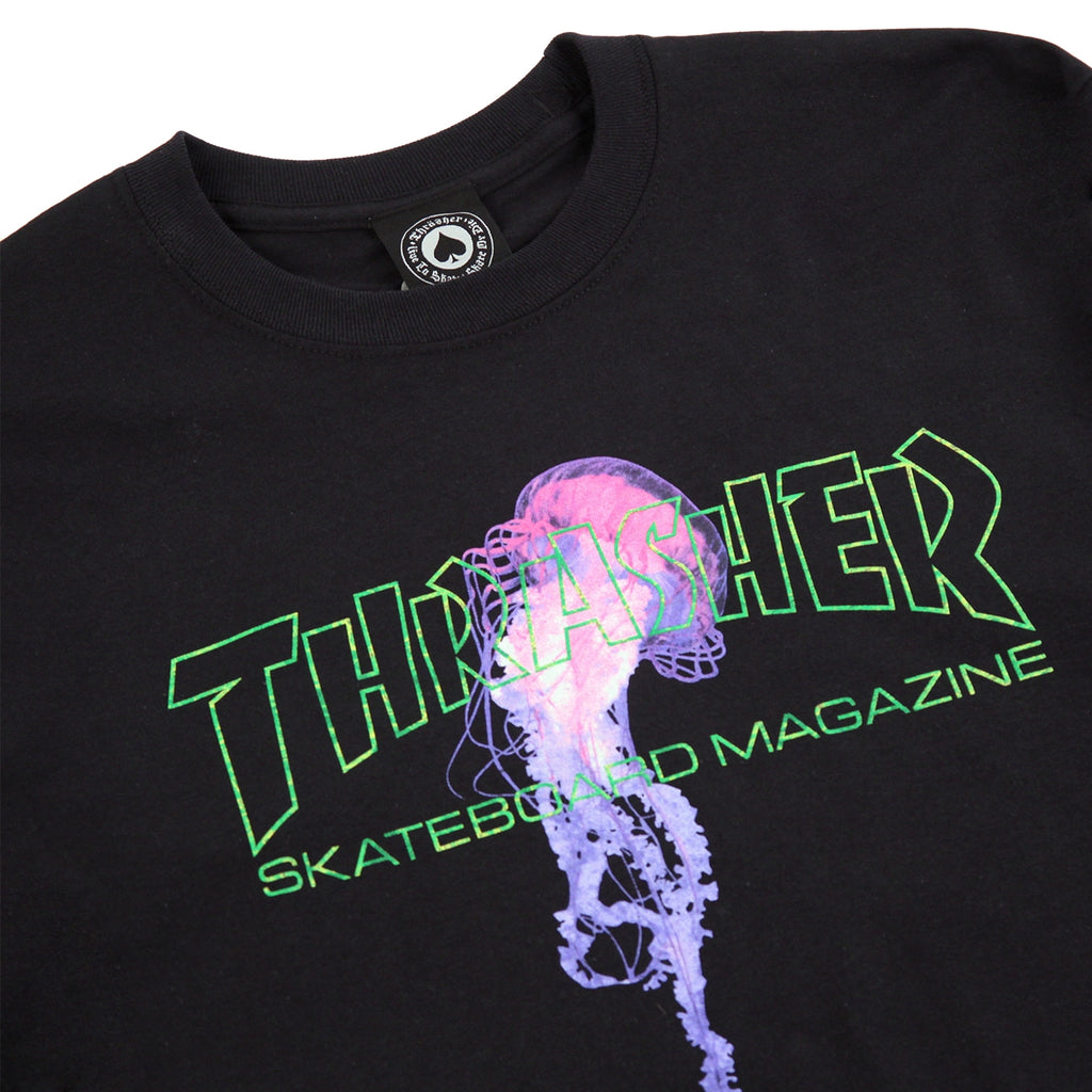 Thrasher x Atlantic Drift L/S T Shirt in Black - Detail