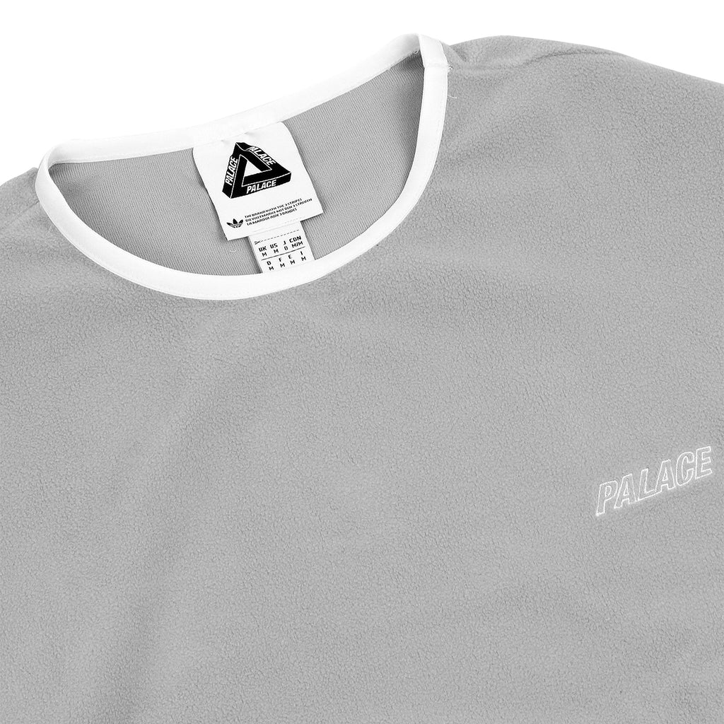 Palace x Adidas Fleece Crew Neck Sweatshirt in Stone - Detail