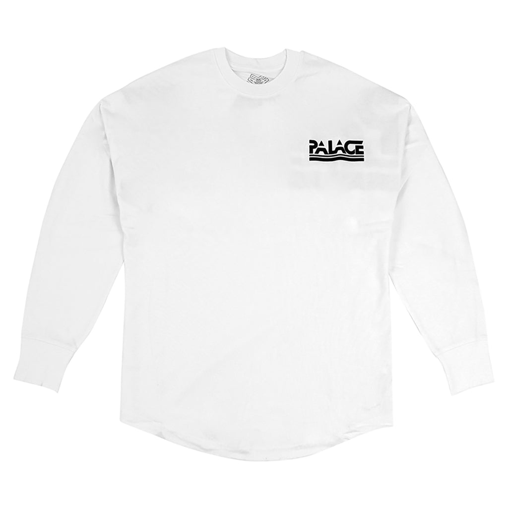 Palace Lightweight Crew Sweatshirt in White
