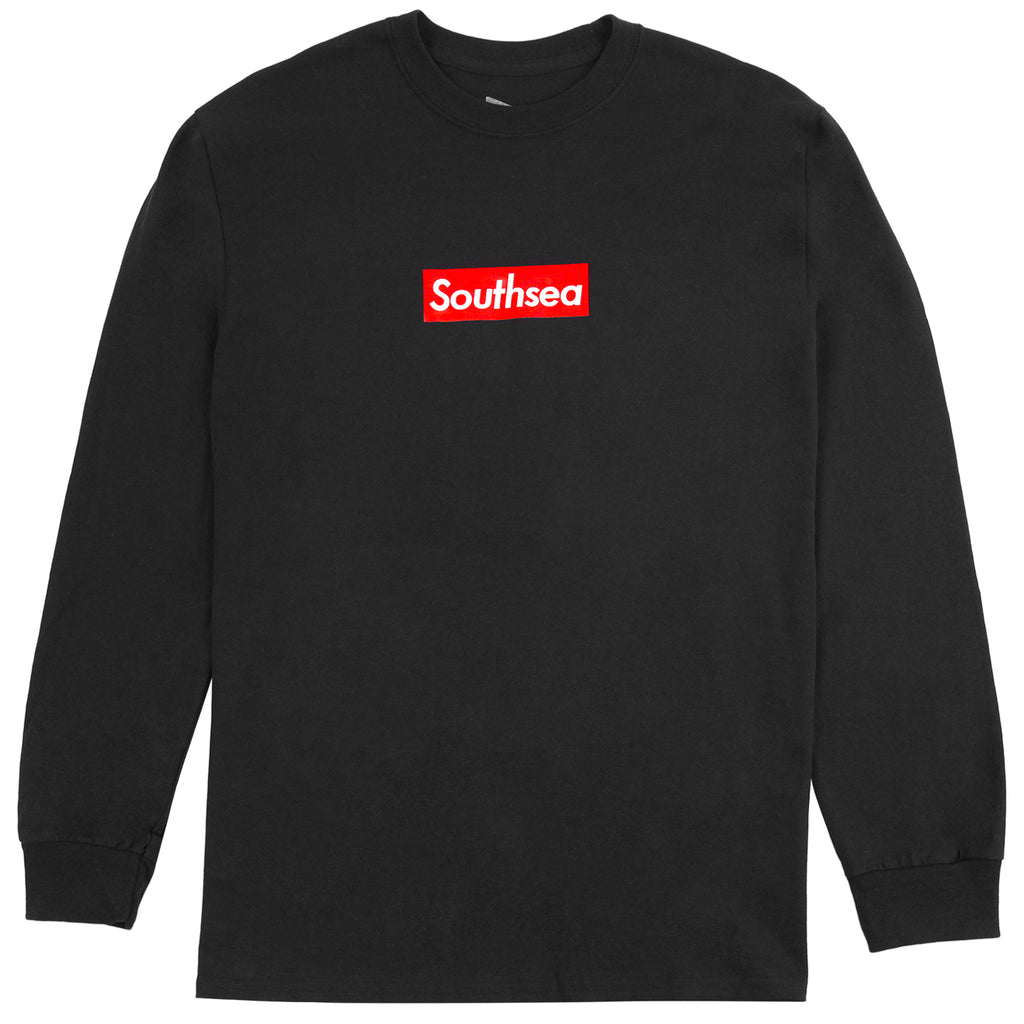 "Bored of Southsea ""Southsea"" L/S T Shirt in Black / Red Box"