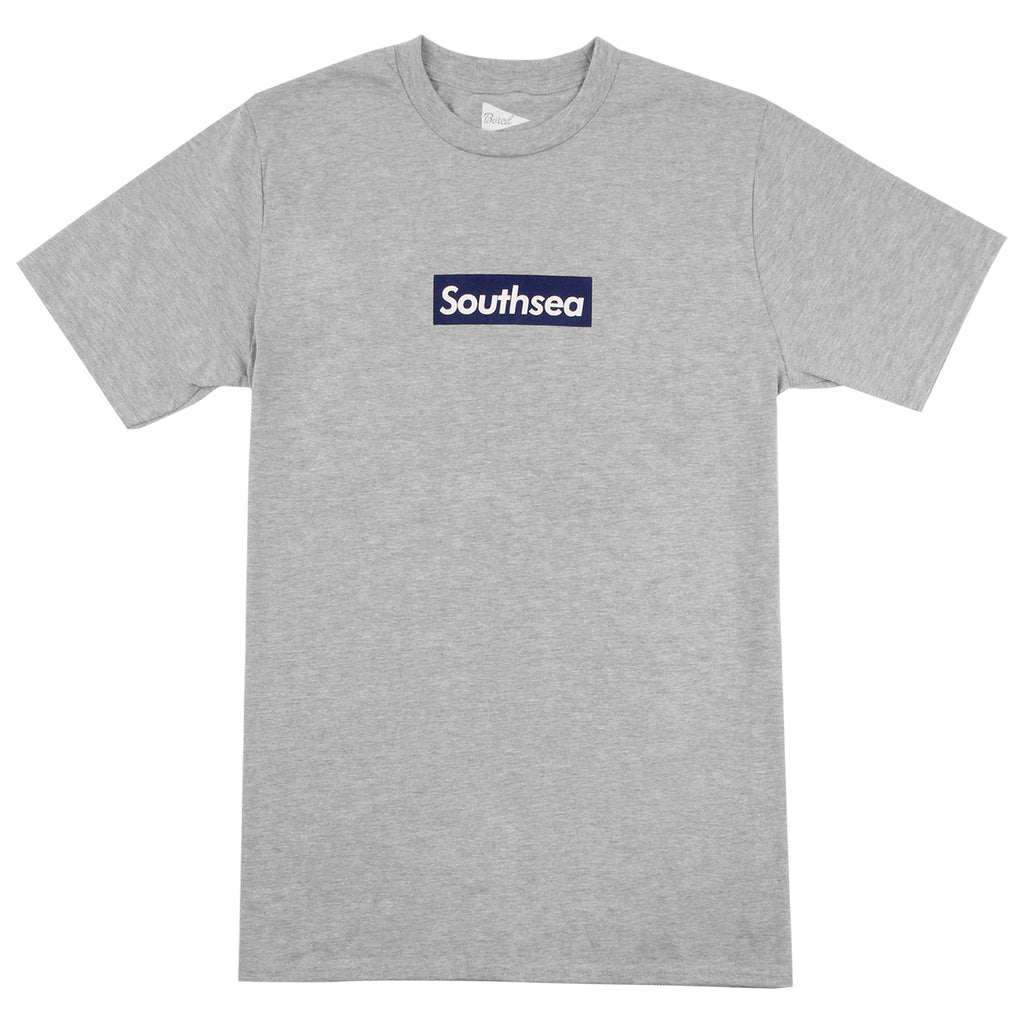 "Bored of Southsea ""Southsea"" T Shirt in Heather Grey / Blue Box"
