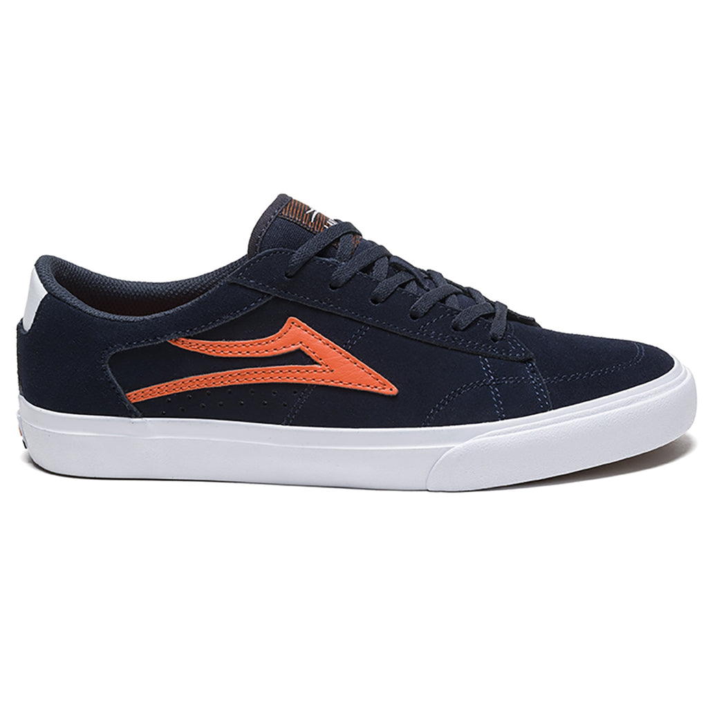 Lakai Ellis Skate Shoes in Blue / Orange Suede