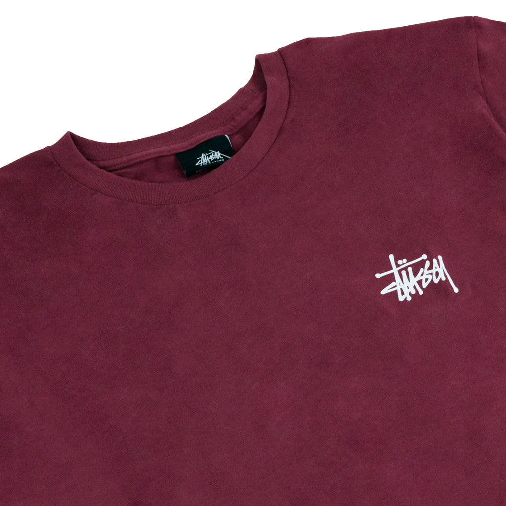 Stussy Basic Stussy T Shirt in Grape - Detail