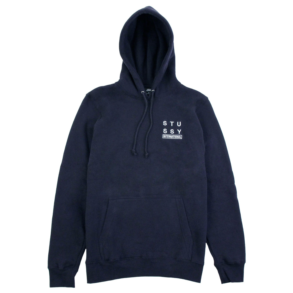 Stussy City Stack Hoodie in Navy