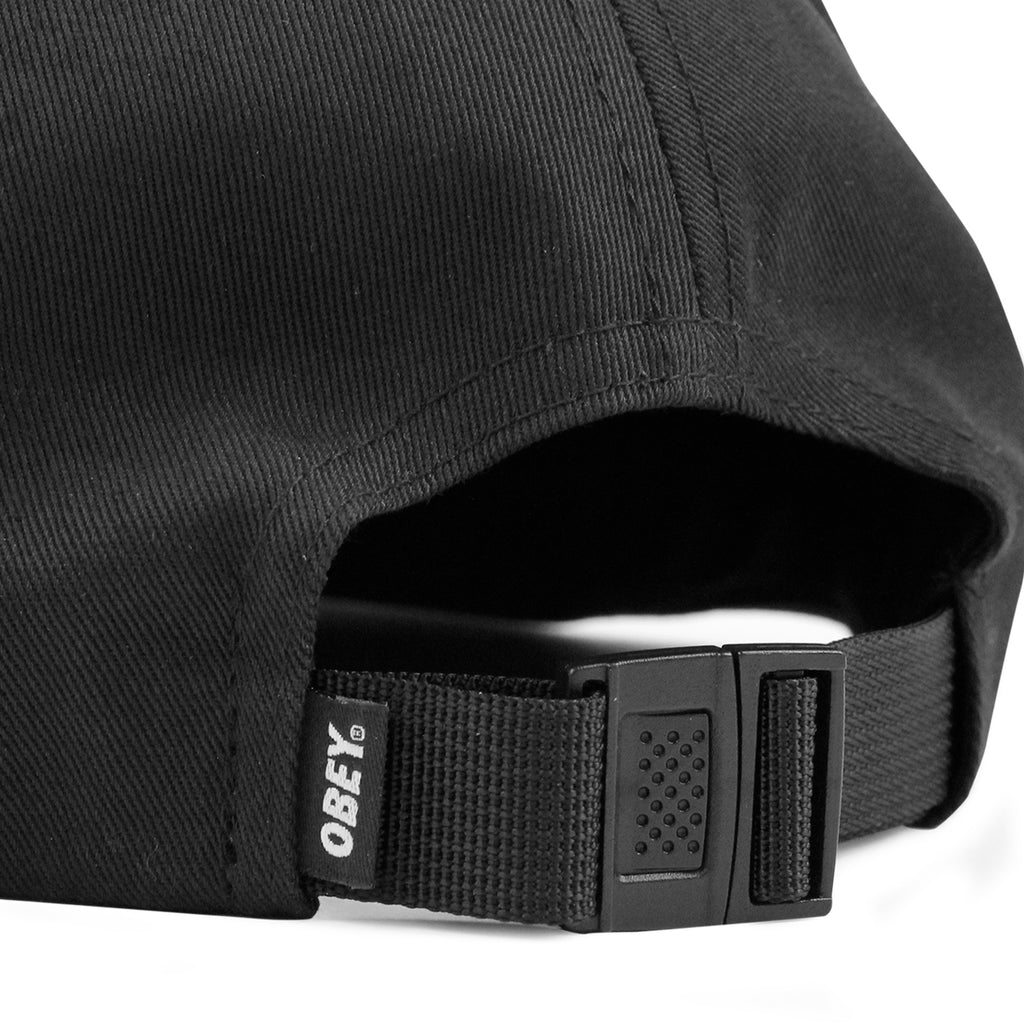 Obey Clothing Eighty Nine 6 Panel Cap in Black - Strap