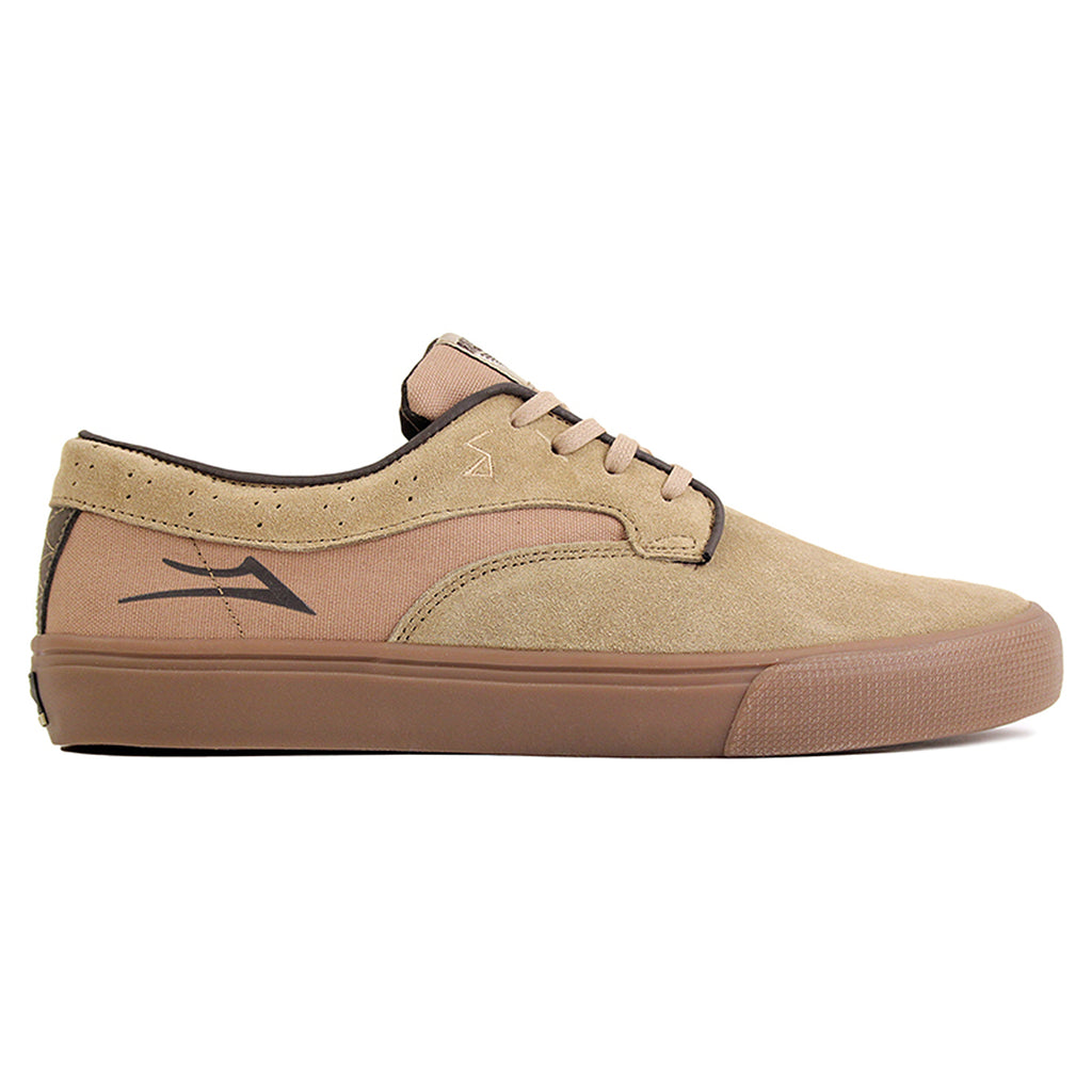 Lakai Riley Hawk Pro Shoes in Walnut Suede/Gum