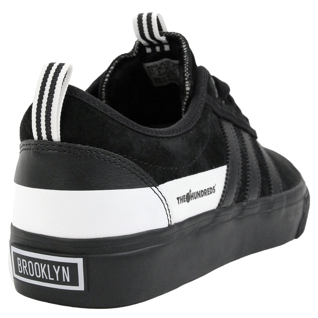 Adidas Skateboarding Adi Ease x Hundreds Shoes in Core Black/FTW White - Heel
