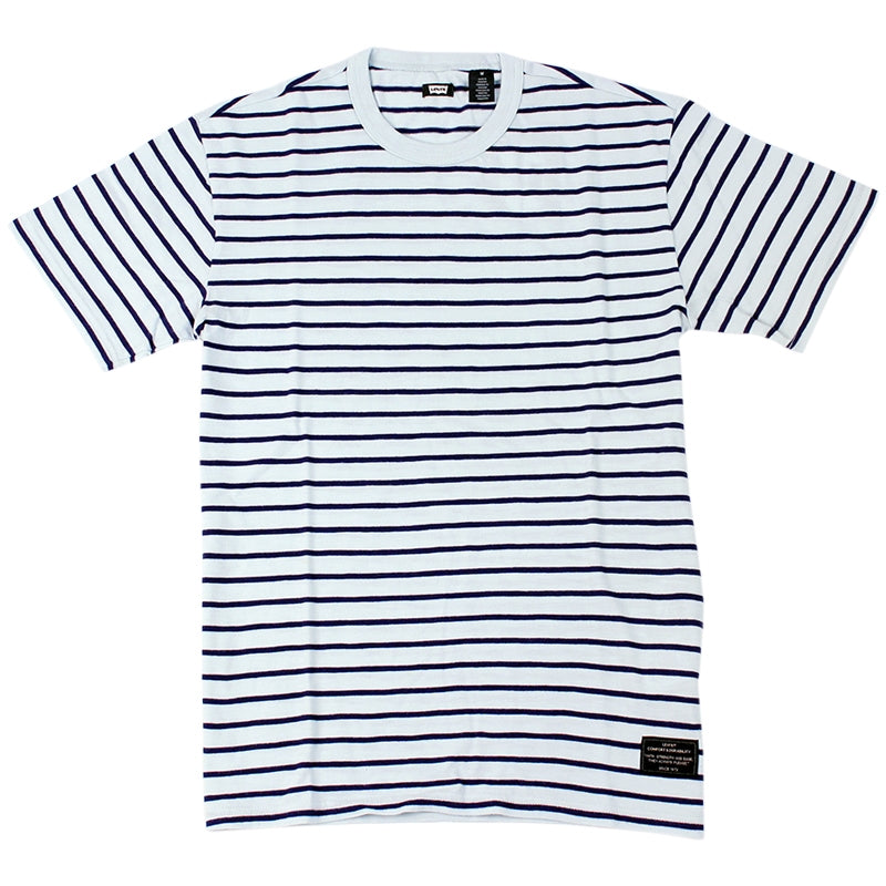 Levi's Skateboarding Collection Skate Striped T Shirt in Pastel Blue