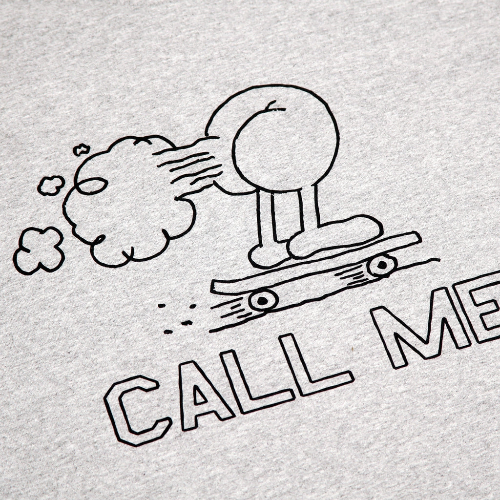 Call Me 917 Fart T Shirt in Heather Grey - Print