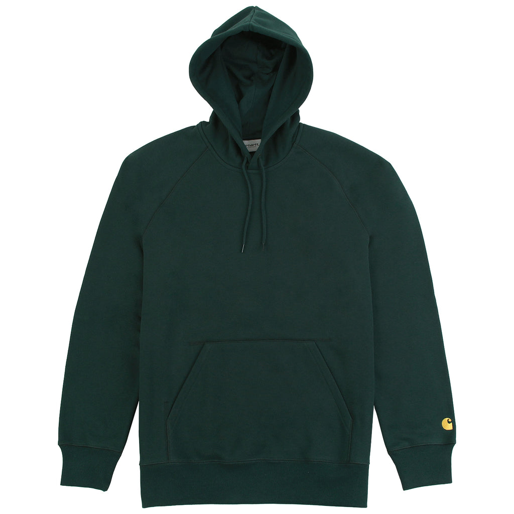 Carhartt Hooded Chase Sweat Hoodie in Parsley / Gold