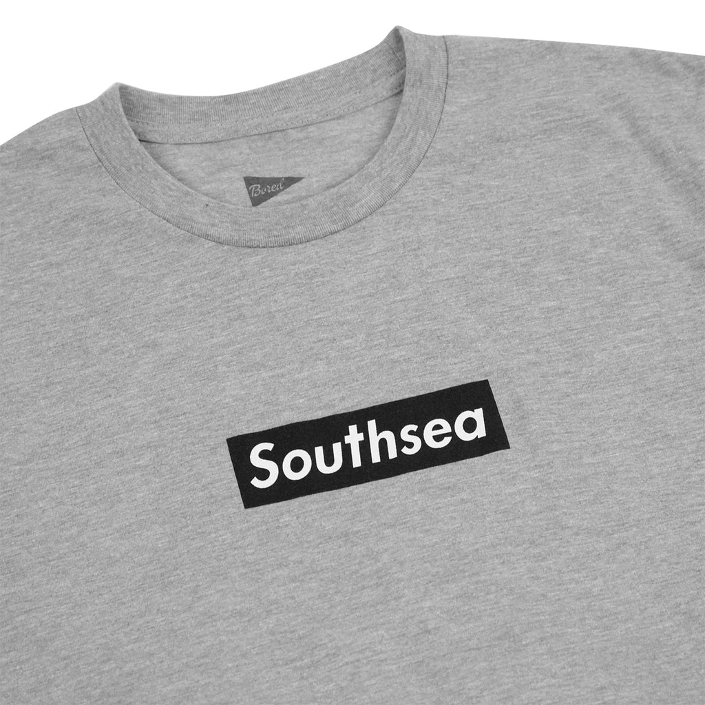 "Bored of Southsea ""Southsea"" T Shirt in Heather Grey / Black Box - Detail"