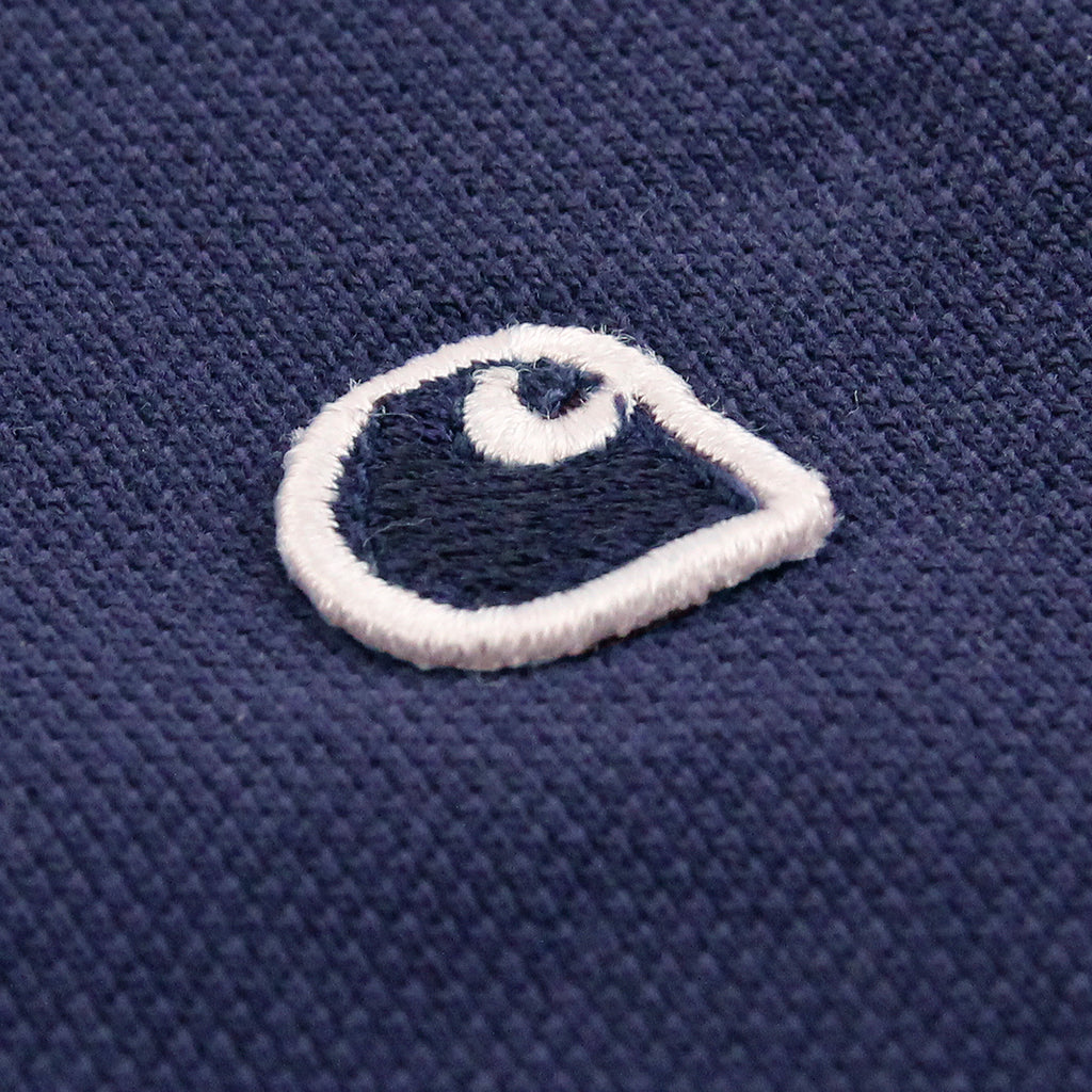 Carhartt WIP L/S Patch Polo Shirt in Blue - Patch