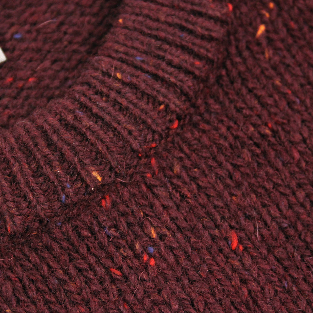 Carhartt Anglistic Sweater in Damson Heather - Collar