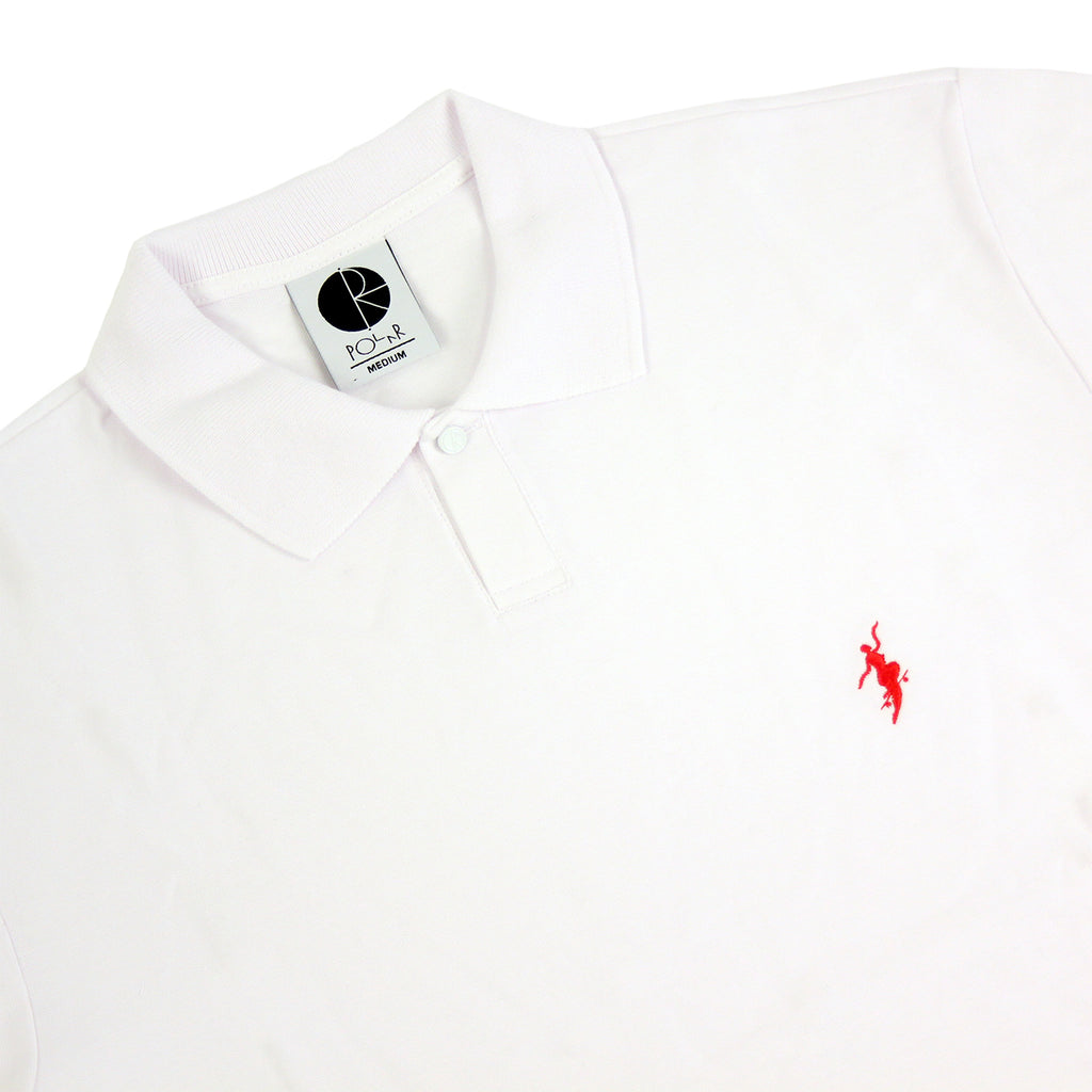 Polar Skate Co No Comply Pike T Shirt in White / Red - Details