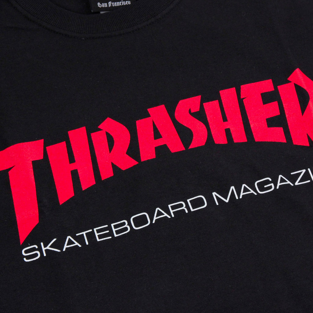 Thrasher Resurrection T Shirt in Black - Print