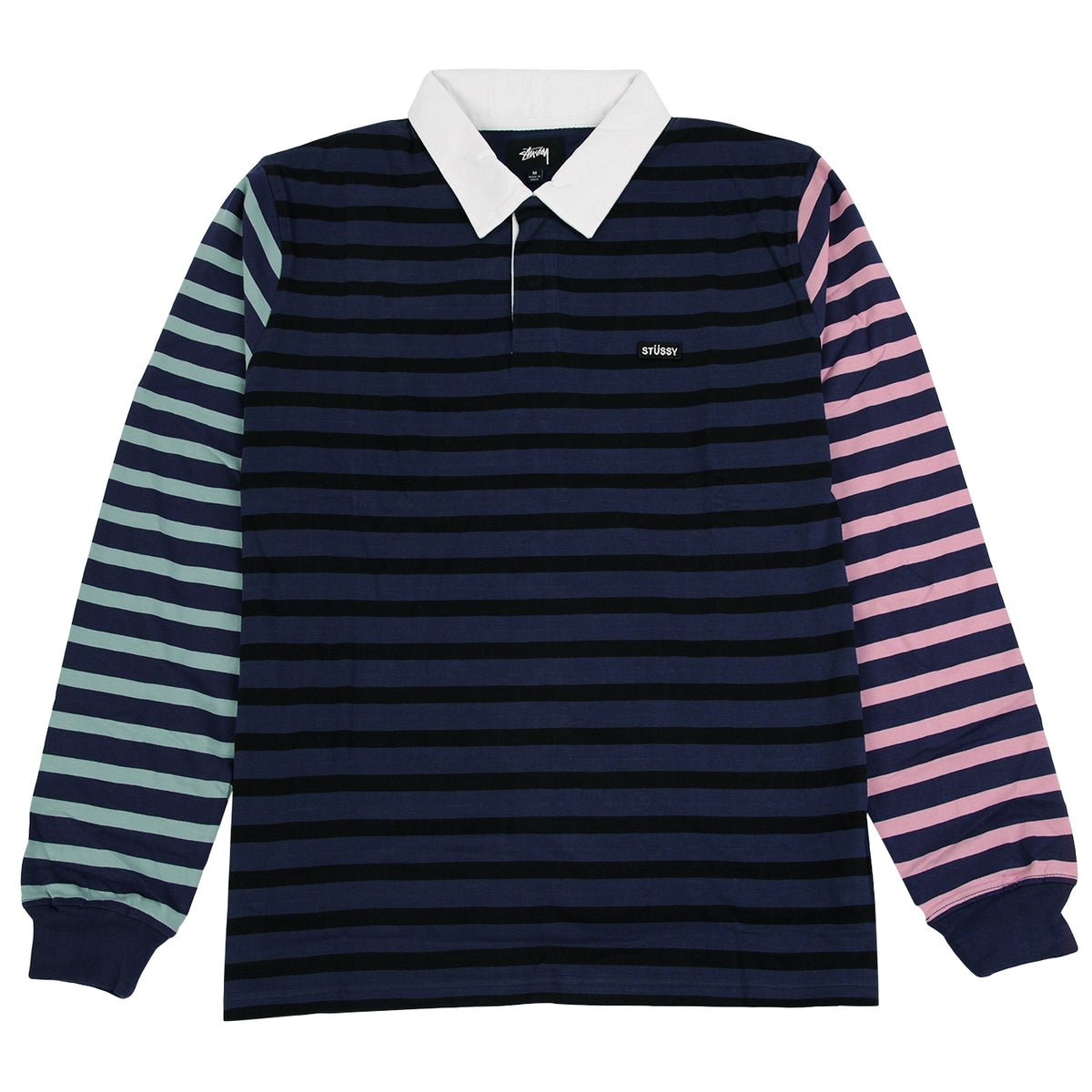 e488c7c15c5 L/S Jonah Stripe Rugby in Navy by Stussy | Bored of Southsea