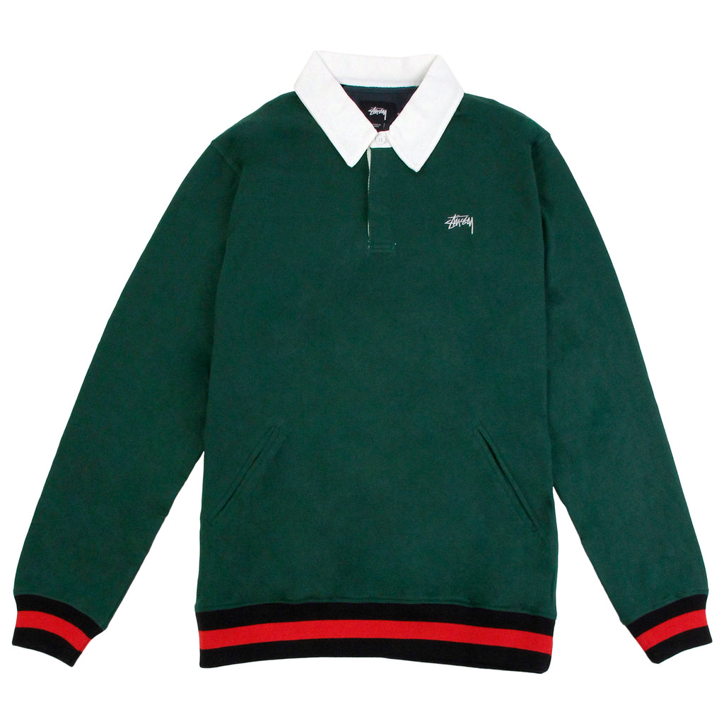 Stussy Pocket Rugby Shirt in Green