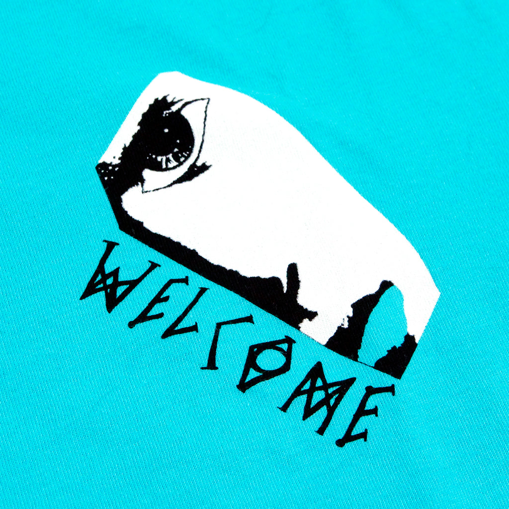 Welcome Skateboards Miller Faces T Shirt in Teal - Print