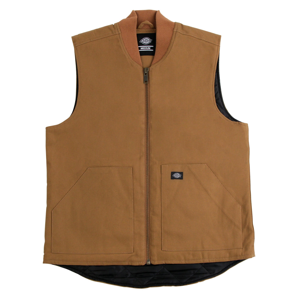 Dickies Dellwood Vest in Brown Duck