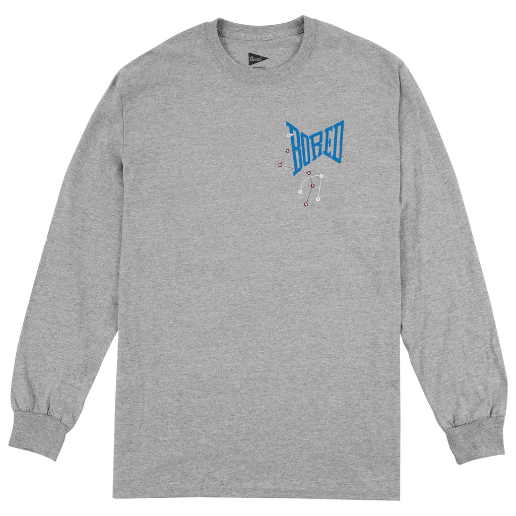 Bored of Southsea Let's Dance L/S T Shirt in Heather grey