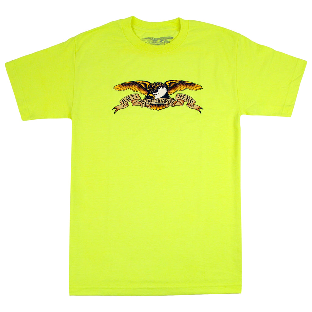 Anti Hero Skateboards Eagle T Shirt in Safety Green