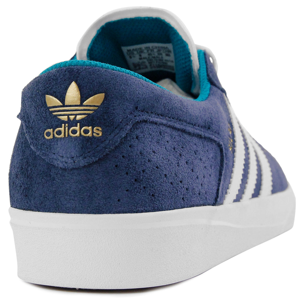 Adidas Skateboarding Silas Vulc ADV Shoes - Collegiate Navy / White /Gold MT - Heel