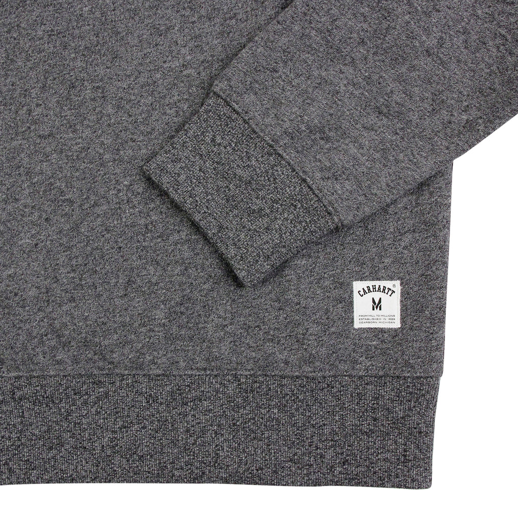 Carhartt Holbrook Sweatshirt in Black Noise - Cuff