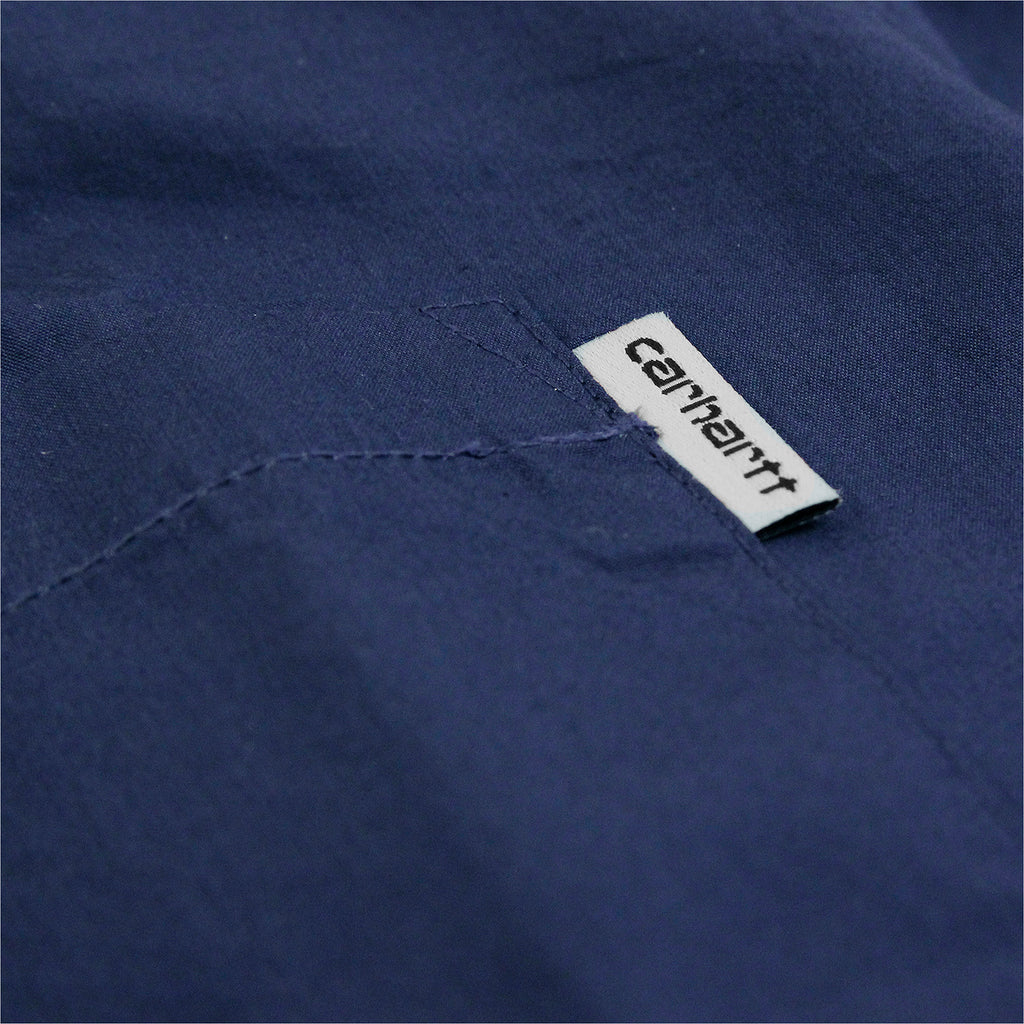 Carhartt L/S Wesley Shirt in Blue - Label