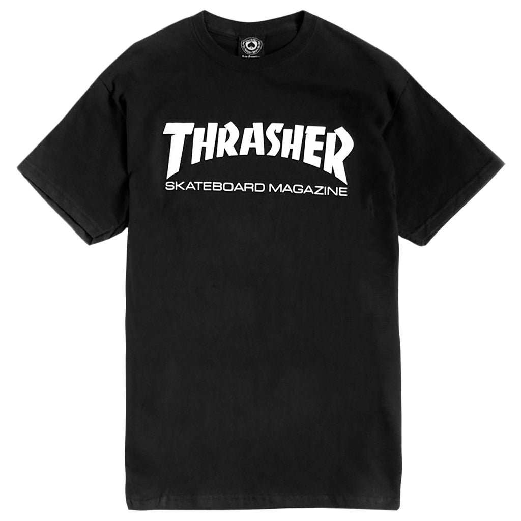 Thrasher Skate Mag Logo T Shirt in Black -