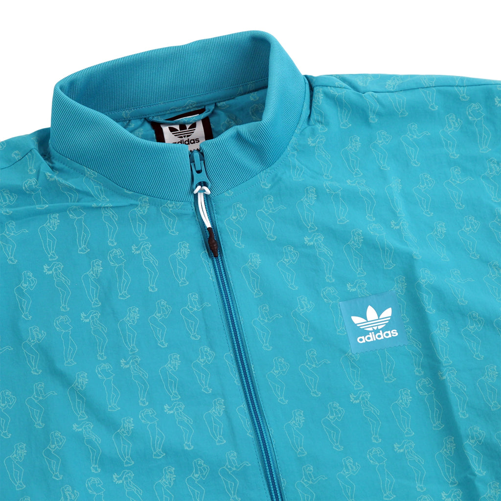 Adidas Skateboarding Robin Clare Jacket in Shock Green - Detail