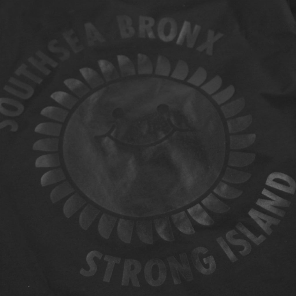 Southsea Bronx Strong Island Coaches Jacket in Black on Black - Print